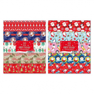 Christmas wrapping paper 10 flat sheets